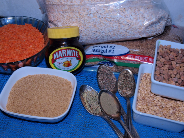 ingredient grains and seasonings